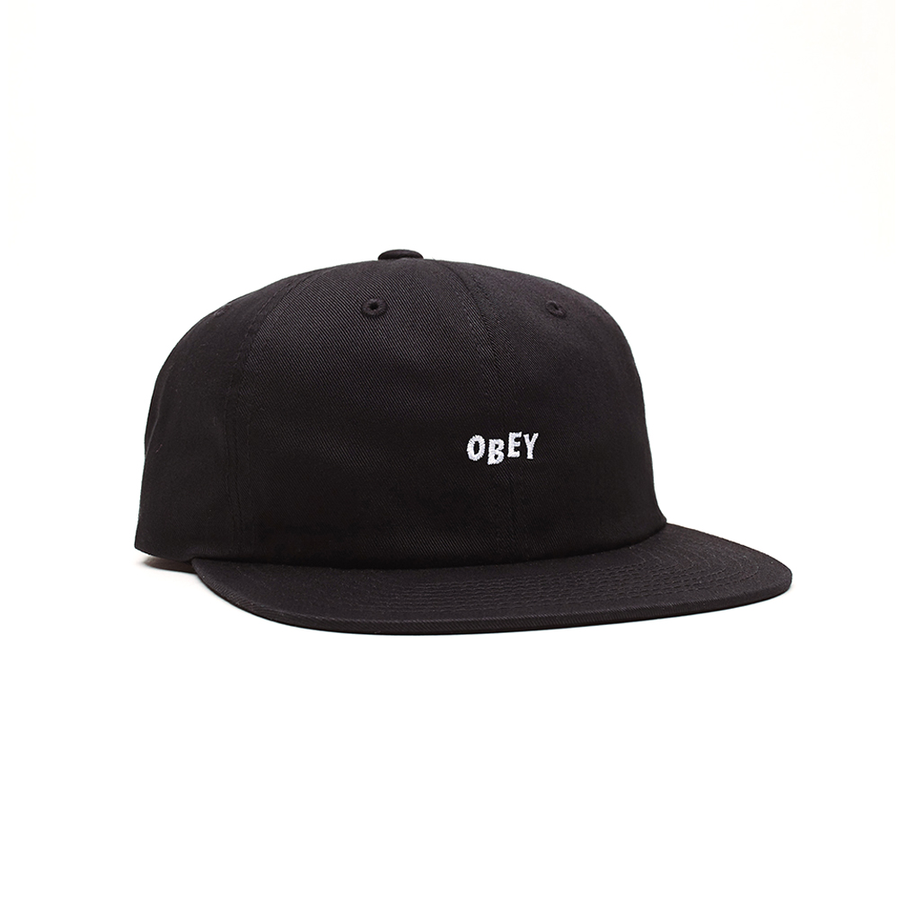 Now in stock Obey Jumbled 6 Panel Strapback Beautiful mid profile height hat by Obey called Obey Jumbled 6 Panel Strapback. Very Comfortable feel because it is made of soft feel cotton. Finished with a iconic eyes with script logo embroidered on the front. Productcode: 100580217 Adjustable Strapback to fit most cotton One size fits most Black and Khaki variant This easy going headwear called Obey Jumbled 6 Panel Strapback has a Black and Khaki color scheme variants.