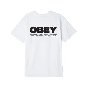 Now in stock the Obey Bomb The Planet REGULAR FIT CREW NECK T-SHIRT WITH SOLID RIB NECK TRIMS. FEATURES HEAVYWEIGHT JERSEY FABRICATION. SOLID: 100% COTTON; HEATHER GREY: 90% COTTON / 10% POLYESTER SKU: 163082206 Nu op voorraad de Obey Bomb The Planet