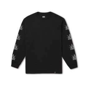 Huf 420 TRIPLE TRIANGLE LS TEE BLACK