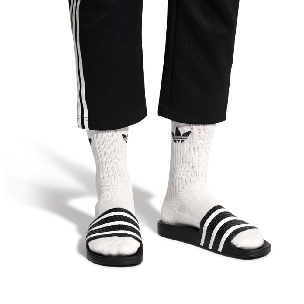 Adidas-Adilette-Black-White-Black