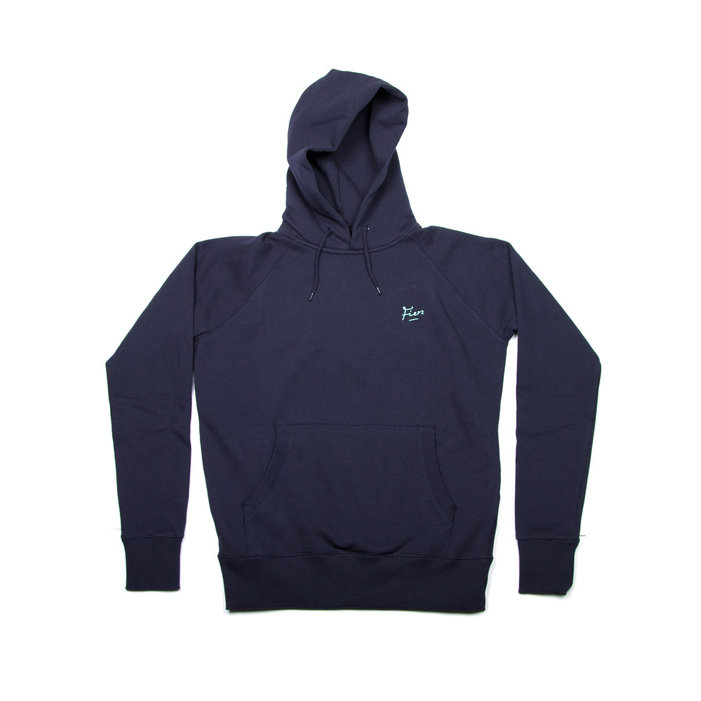 Fier Embroidered Hood Navy
