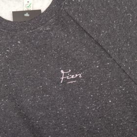 Fier Embroidered Crew Black/Pink