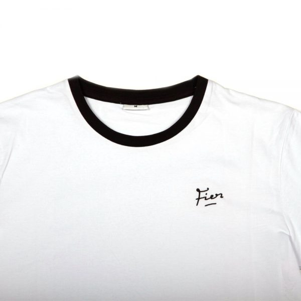 Fier Embroidered Tee White