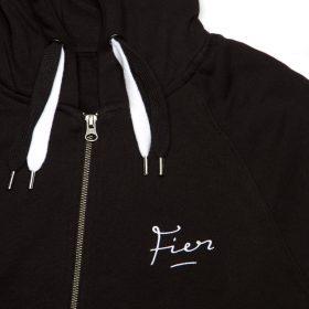 fier zip hoody black