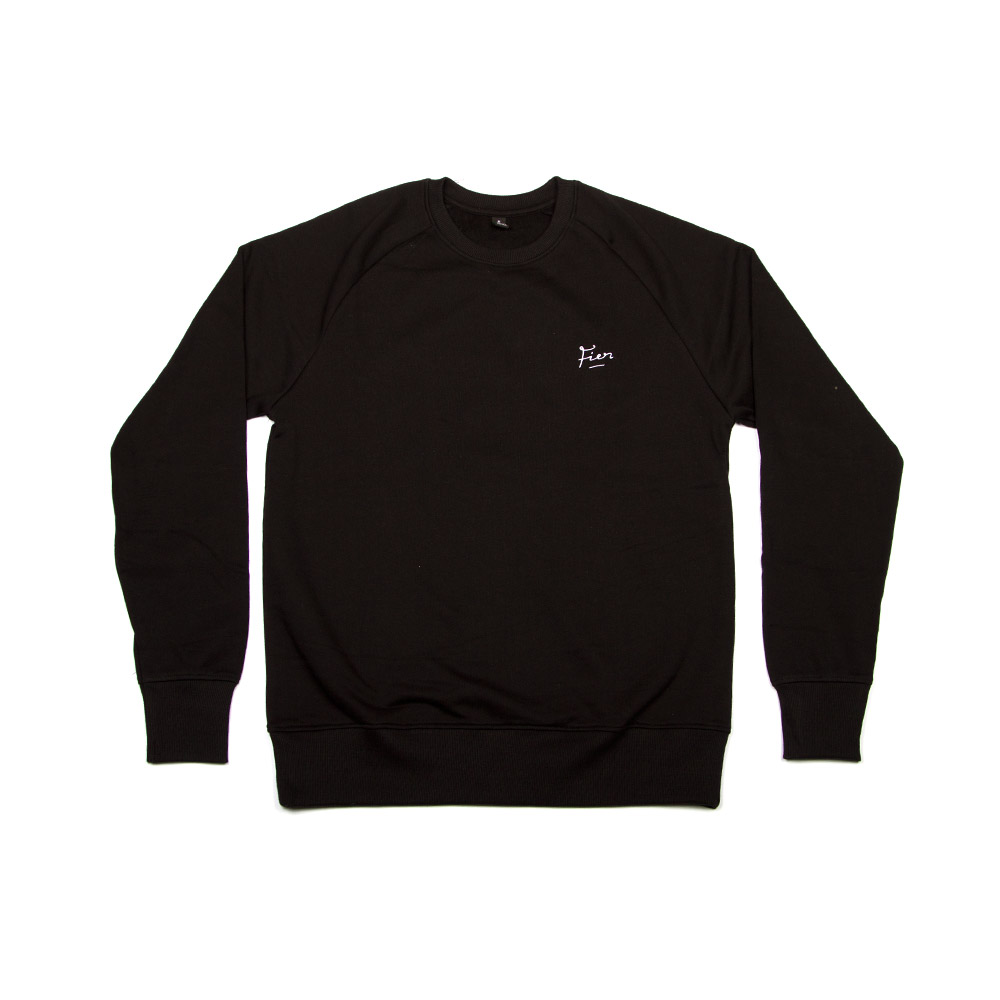 Fier Embroidered Crew Black