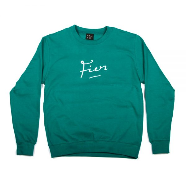 Fier-embroidered-Crew-Teal-White