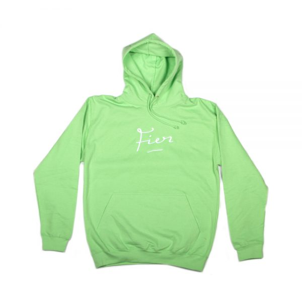 Fier-embroidered-Hood-Apple-Green-White
