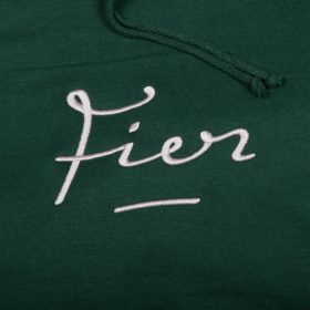 Fier-Embroided-Hood-Forest-green-Light-Pink