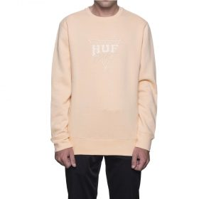 HUF-SPORT-EMBROIDERY-CREW-FLEECE-PEACH