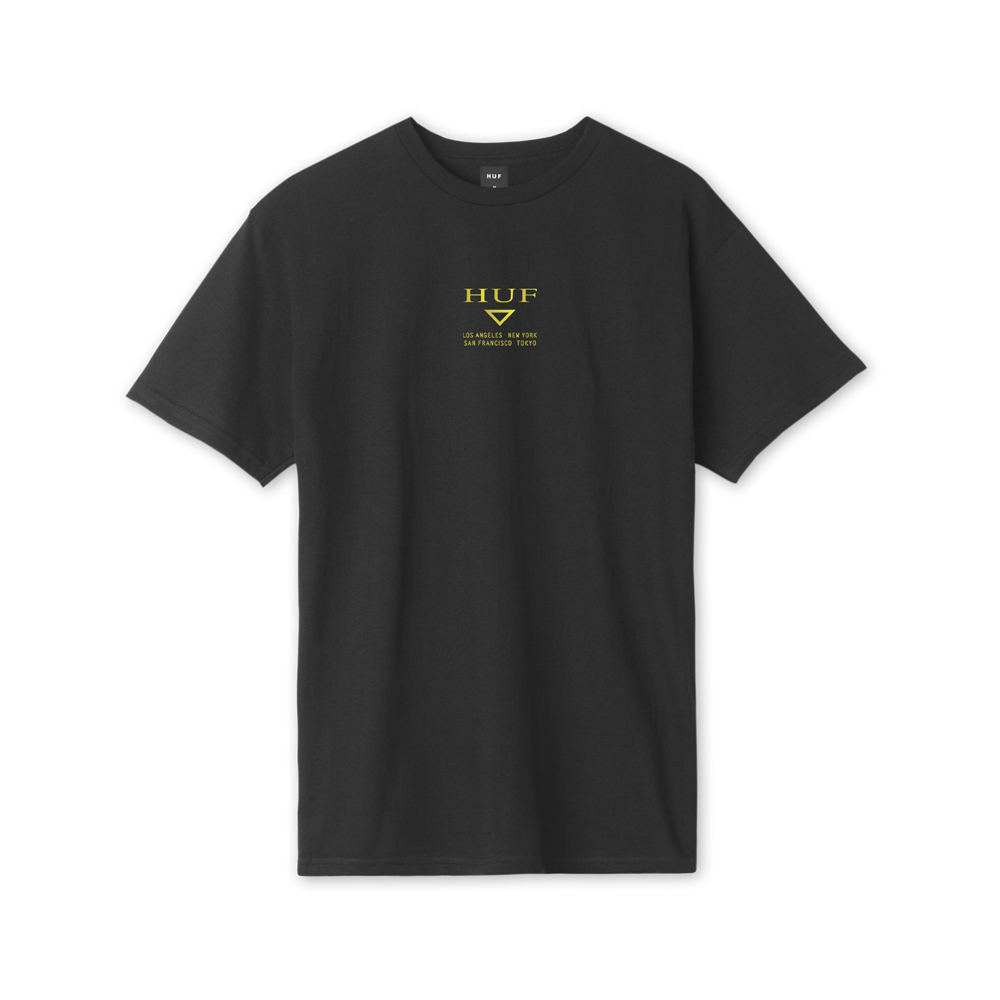 Now in stock Huf Hufex S/S Tee black Short sleeved shirt by huf called Huf Hufex s/s tee Black
