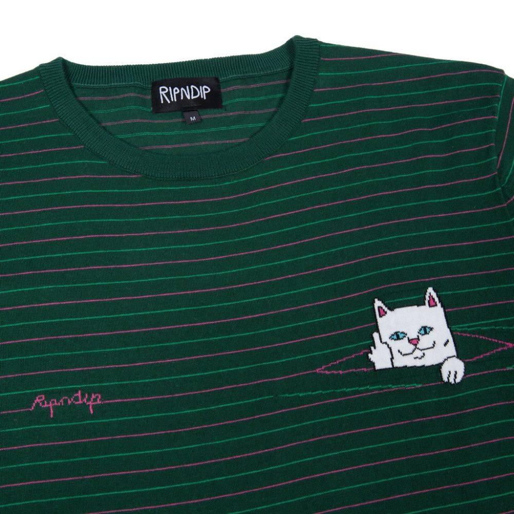 Rip N Dip Peeking Nermal Knit Tee Hunter Green Pink
