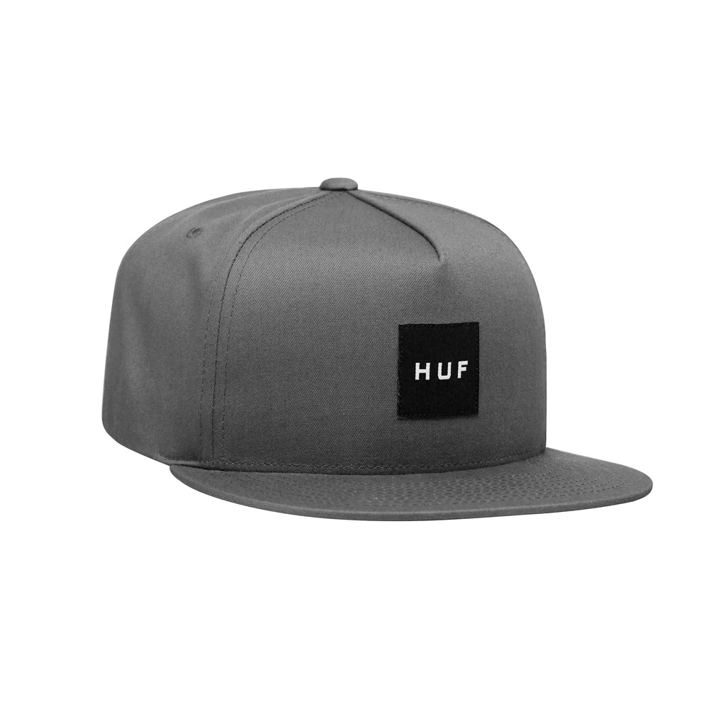 Huf-ESSENTIALS-BOX-SNAP-BACK-HAT_CHARCOAL