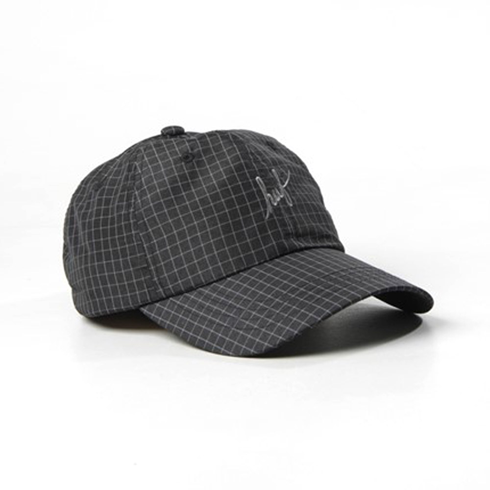f74218e9566 Huf Flynn Curved Visor 6 Panel Black