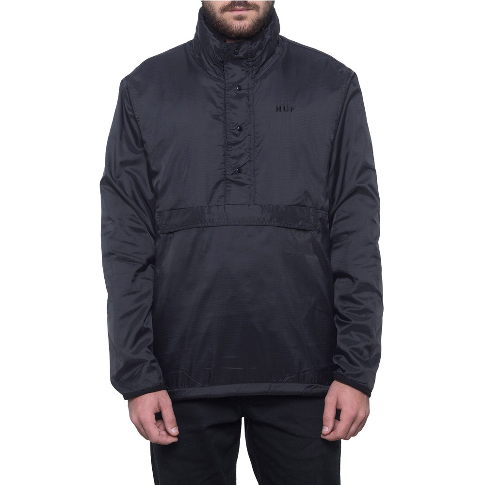 Huf-KUMO-REVERSIBLE-1-4-ZIP-JACKET_BLACK1