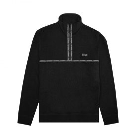Huf-MIDTOWN-1-2-ZIP-FLEECE_BLACK