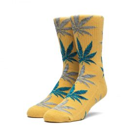 Huf-Melange-Leaf-Crew-Socks-Honey-Mustard