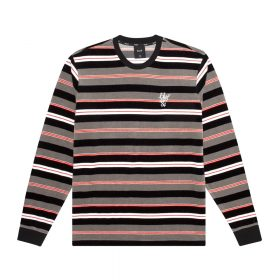 Huf-UNVEIL-STRIPE-VELOUR-L-S-TOP_BLACK