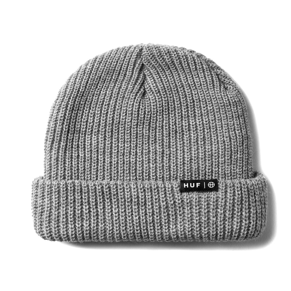 Huf-USUAL-BEANIE_GREY-HEATHER