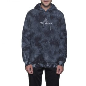 Huf-WORLDWIDE-TRIANGLE-CRYSTAL-WASH-PULLOVER-HOOD-BLACK