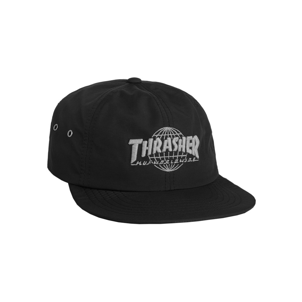 huf x thrasher tds 6 panel black