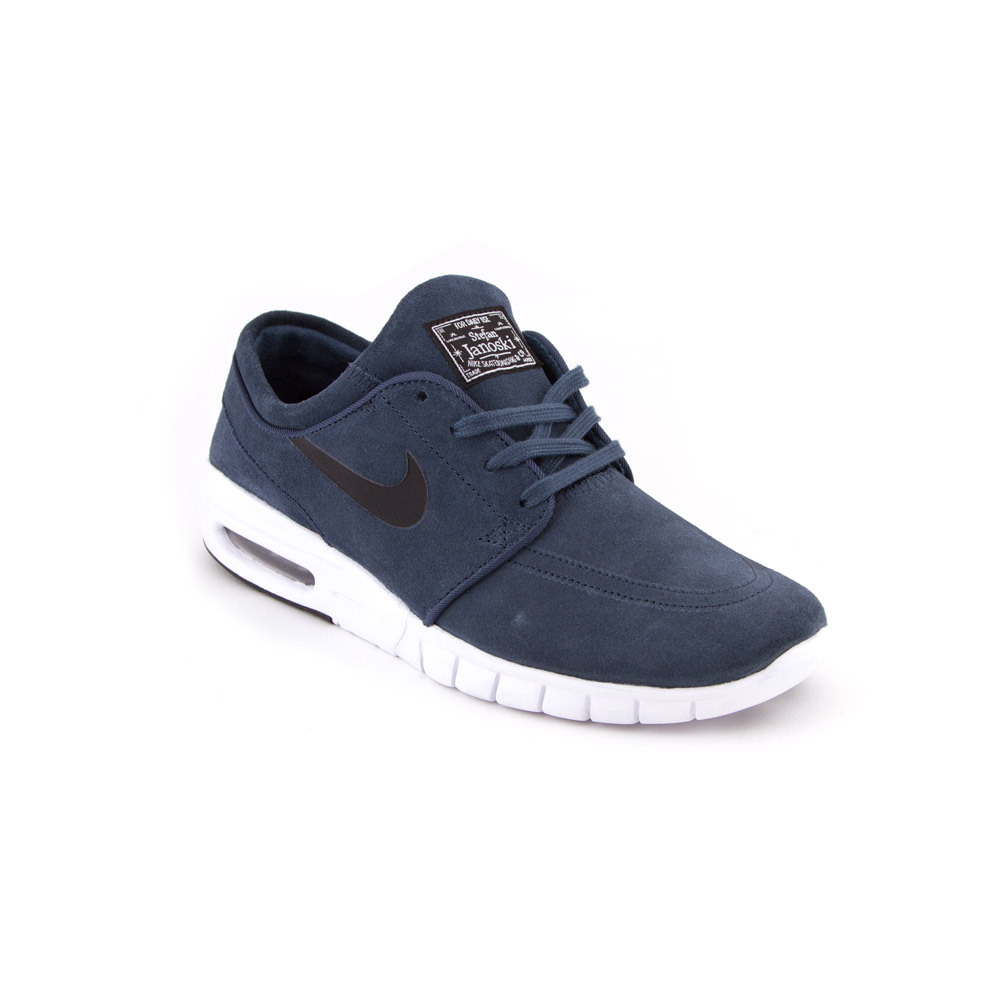 nike sb stefan janoski max l squadron blue black white. Black Bedroom Furniture Sets. Home Design Ideas