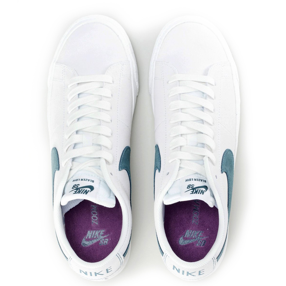 8ff7541a6c6 Nike SB Blazer Low Summit White Deep Jungle