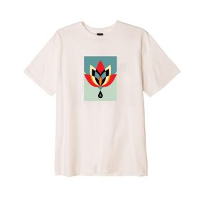 OBEY-Geometric-Flower-Tee-Naturel