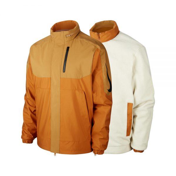 Nike SB x OSKi Reversible Jacket ISO Orange Label Productcode: BV8284-255 Item Reversible jacket Orange Label ISO Side pockets Left Chest pocket Muted Bronze, Burnt Sienna, Black