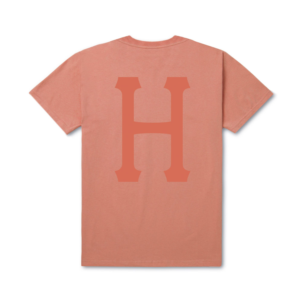 Huf OVER DYE CLASSIC H SS TEE CORAL