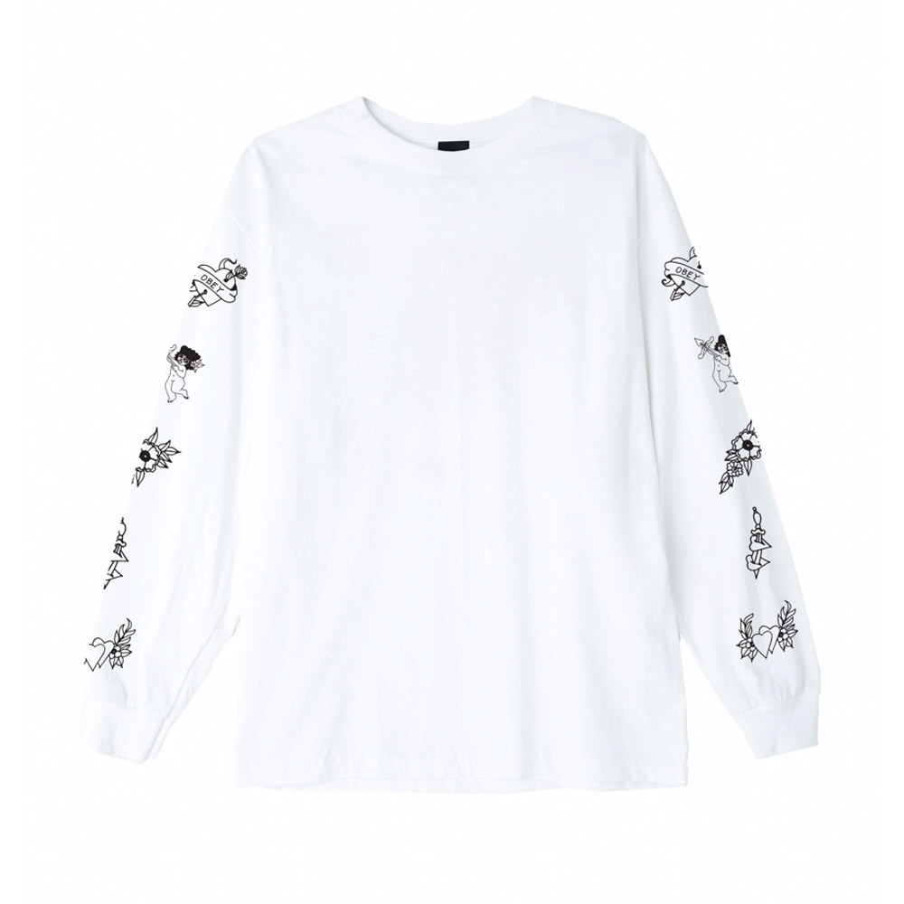 Obey-Angels-LS-Tee-White
