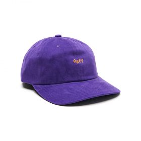 Obey-Cutty-6-Panel-Snapback-Purple