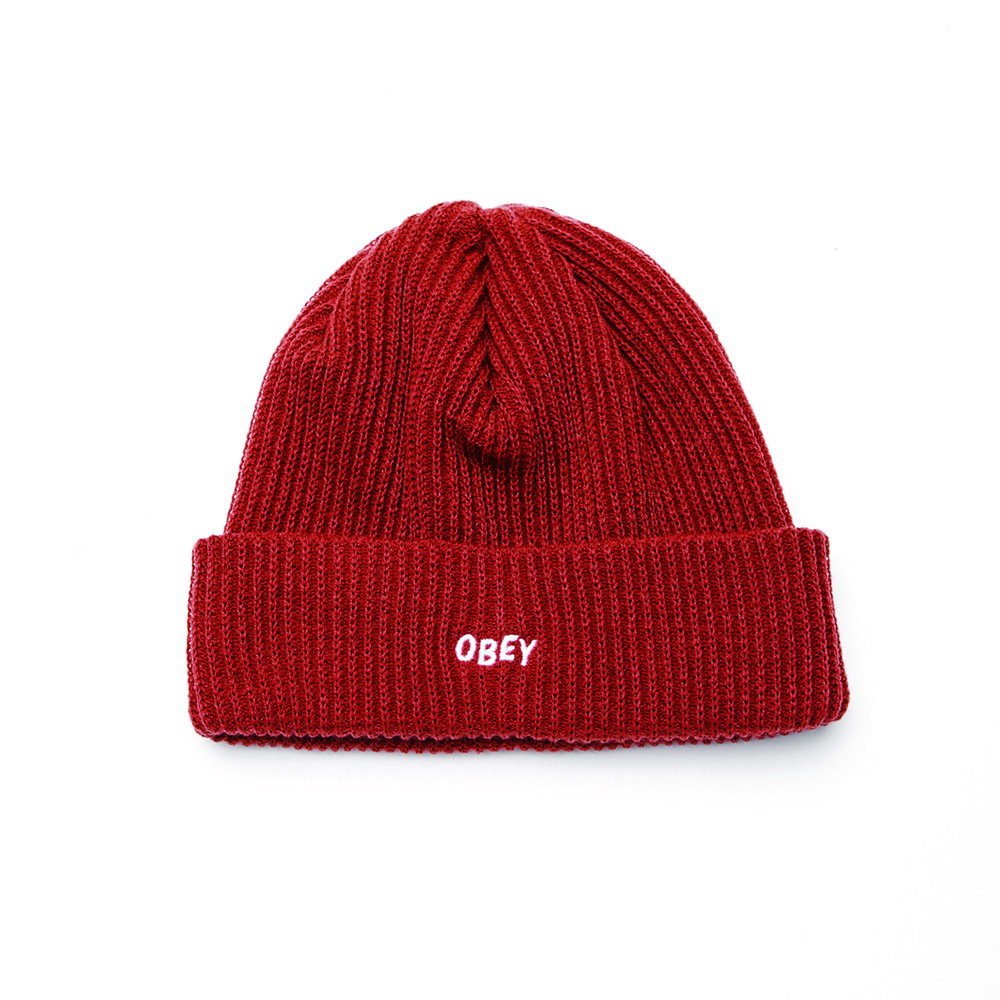 Obey-HANGMAN-BEANIE-Brick-Red