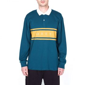Obey-Hero-Classic-Polo-LS-Dark-teal