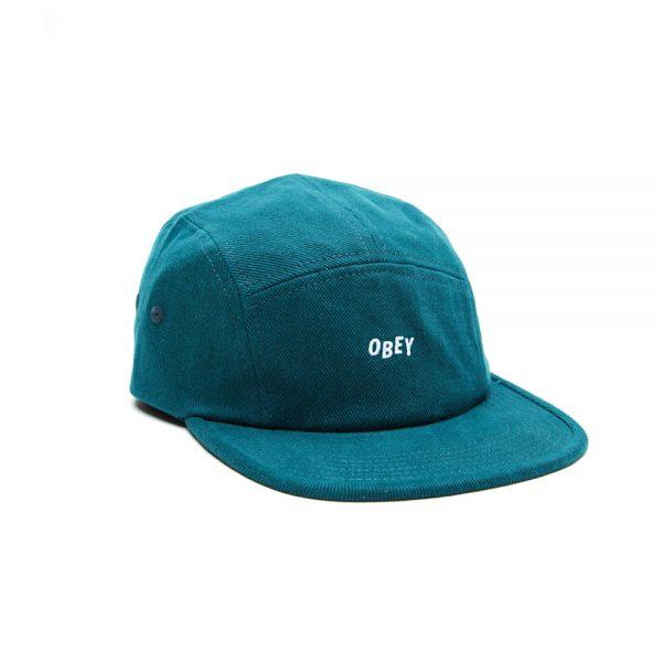 Obey-Jumble-Bar-II-5-Panel-Hat-Pine