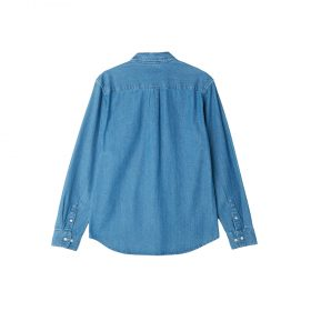 Obey Keble II Woven LS Light Blue