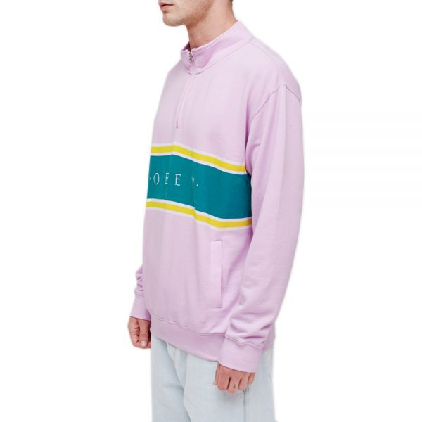 Obey-Palisade-Mock-Neck-Zip-Pink