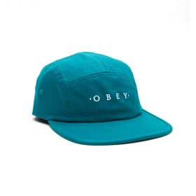 Obey-Union-5-Panel-Hat-Teal