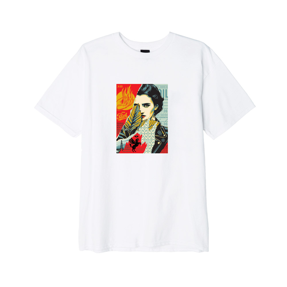 Obey--WRONG-PATH-Tee-White