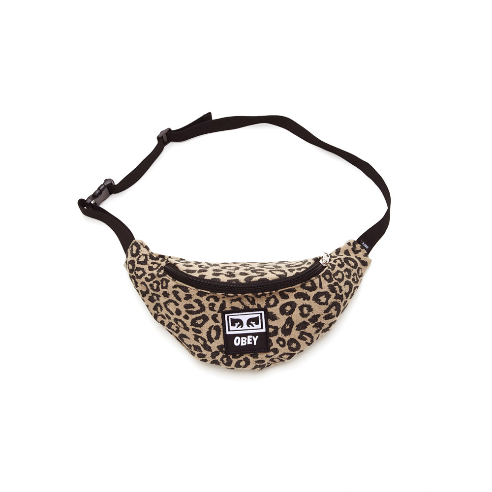 Obey-Wasted-Hip-Bag-Black-Leopart-Khaki