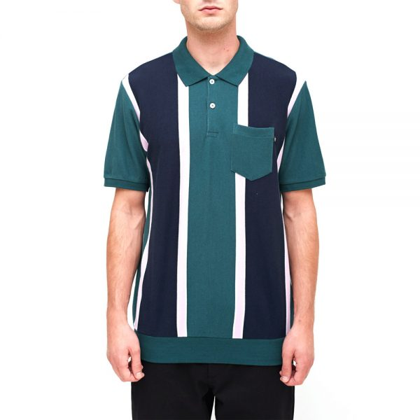 Obey-Watermark-polo-Green-Multi-
