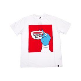parra worst dad t-shirt white