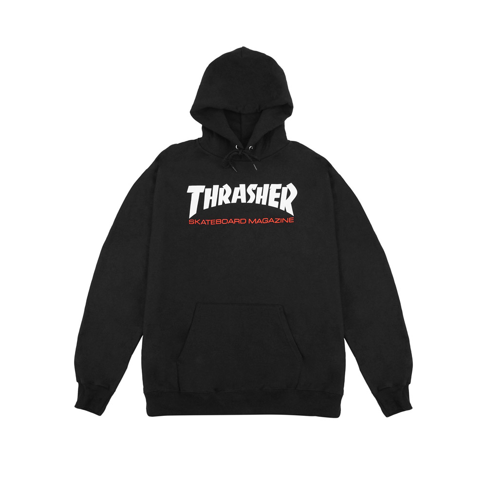 Thrasher Hood Black Red White