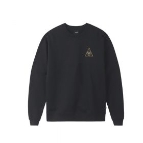 Now in stock Huf Year of the Rat TT Crewneck Long sleeved crewneck sweater by HUF called Huf year of the rat Triple triangle crewneck but year of the rat TT Crewneck in short. This sweater has a classic fit and is made of a cotton blend. The year 2020 is all about the rat. So to celebrate Huf took the iconic Essentials TT design for a new twist. The triple triangle design is overgrown with cherry blossoms. Fixed with ribbed cuffs and trim to suit your fit and finished with a Huf label on the side. Productcode: PF00312-Black Crewneck sweater Printed design Huf Triple triangle with a twist Cherry Blossoms Labeled on the left side This crewneck the Year of the rat TT Crewneck has a black, gold, pink, white color scheme.