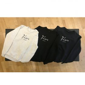 Fier Crewneck Embroidery Heather Grey, Black, Dark Navy. Fier Trui