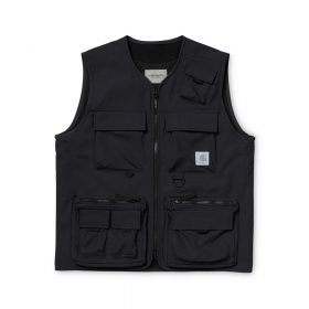Now in stock the Carhartt WIP Elmwood Vest. The Carhartt WIP Elmwood Vest is constructed from a technical polyester mechanical stretch fabric, which is water repellent and provides ease of movement. Utilitarian features include multiple pockets, with either zip or velcro fastenings, as well as D-ring detailing on the left chest. A mesh lining is also included for increased breathability. I026023_89_00 100% Polyester Mechanical Stretch, 5.3 oz water repellent fabric mesh lined front closure with zip two chest pockets with flap and velcro closure front pockets with zip closure and side entry small pocket with velcro closure reflective square label Nu op voorraad de Carhartt WIP Elmwood Vest. De Carhartt Elmwood Vest is gemaakt van een technische stretch polyester met water afstotende laag en flexibiliteit. Bijzonder nuttige kenmerken door veelzijdigheid in opbergvakken. I026023_89_00 100% Polyester Mechanical Stretch, 5.3 oz water afstotende stof mesh binnenvoering voorkant ritssluiting  2 borstzakken met flap klittenband sluiting voorzakken met ritssluiting met zij ingangen klein zakje met klittenband sluiting reflecterende blok label