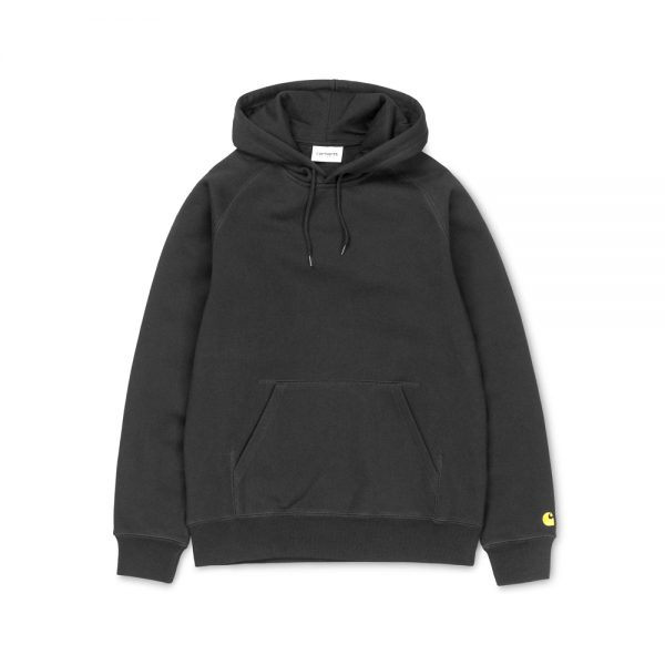 Hooded Chase Sweat The Carhartt WIP Hooded Chase Sweat is a heavyweight hooded sweatshirt, constructed from a cotton-poly blend jersey. It is part of our Chase Program, which focuses on jersey-based staples, and features an embroidered Carhartt 'C' motif on the left sleeve. Ribbed cuffs and hem, drawstring hood and front pouch pocket. Regular fit. I026384_04X_90 I026384_89_90 58/42% Cotton/Polyester Heavy Sweat, 13 oz regular fit brushed flatlock stitching adjustable hood raglan sleeves kangaroo pocket logo embroidery on sleeve