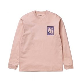 Now in stock the Carhartt WIP L/S Foundation T-Shirt The Carhartt WIP Long Sleeve T-Shirt Carhartt WIP L/S Foundation T-shirt is a comfortable shirt, constructed from a cotton yarn dyed blend. I027755_08T_90 loose fit graphic print Powdery pink with blue accents