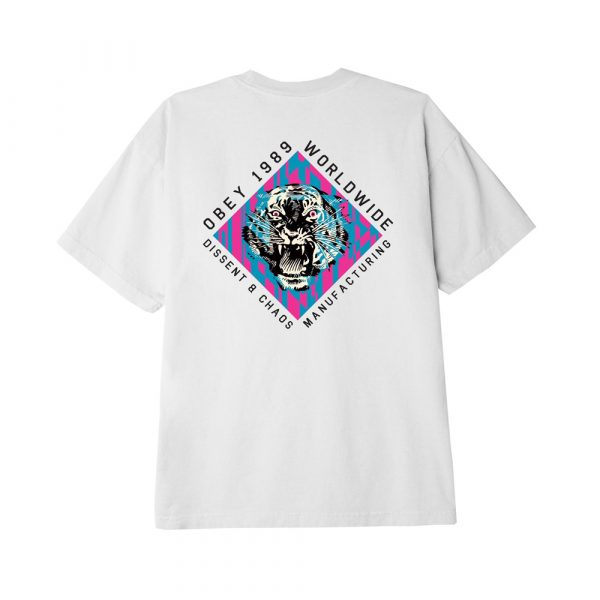 Now in Stock Obey Dissent & Chaos Tiger White Op zoek naar Obey Dissent & Chaos Tiger short sleeve tee White? REGULAR FIT CLASSIC TEE WITH SET IN COLLAR AND DOUBLE NEEDLE SLEEVE AND BOTTOM HEM. 100% COTTON. SKU:165262584 Obey Dissent & Chaos Tiger White for warmth and comfort If ordered now it will be at your door at high speed by fast shipping. Want to find fitting apparel? See Apparel by Obeyto find our matching items. In addition cross combine it in our web shop with Shoes, Apparel, Headwear, Specials, Hardware and Accessoires. More Obey info at Wiki or at the online headquarters at Obey. Looking for skateboard clothes, clothing, skate, urban or street wear? Our Fier skate shop stock holds some of the finest items of different brands like Obey, HUF, Carhartt WIP, Nike SB Orange Label, Vans and more. If it's for a fashion statement, daily use or even for the casual neat look and you will find something you will like. However, take your time and browse through our web shop in the categories like jackets, jeans, sweaters and shirt. In search for the one and only Fier hooded sweater? Our own home brand merchandise is also available in store and web shop. Besides the comfy hoody we also have Fier shirts, decks, fanny packs, socks and more Fier items in stock. Searching for Grail or hype purchases? These special items are only available via online raffle and special events. On our social media channels like Instagram we will host these in order for you to cop. So follow us on insta and like our fb page to stay up to date for these items. Whether it is a shock drop, quick strike QS or a very special Nike SB Dunk Pro release. Beware, we have noticed there are multiple accounts pretending to be us. In other words, Fier Skateshop is our only account! Don't forget to check out the sale page for lost pearls with outlet low prizes. New to the world of skateboarding? If you want to start skateboarding and find it hard to choose your first set up. You can always walk in so we c