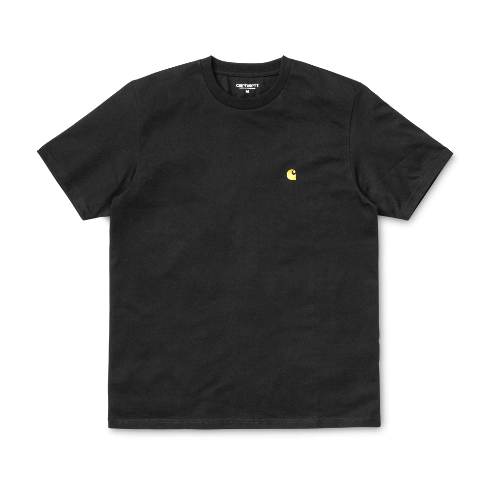 Now in stock theCarhartt WIP S/S Chase T-Shirt. The Carhartt WIP S/S Chase T-Shirt is constructed from combed cotton jersey. It is part of our Chase Program, which focuses on jersey-based staples, and features an embroidered Carhartt 'C' motif on the left chest. Loose fit. I026391_3C_90 100% Cotton Combed Single Jersey, 235 g/m² loose fit logo embroidery on chest Our Stock holds the Treehouse Green And Black variants.