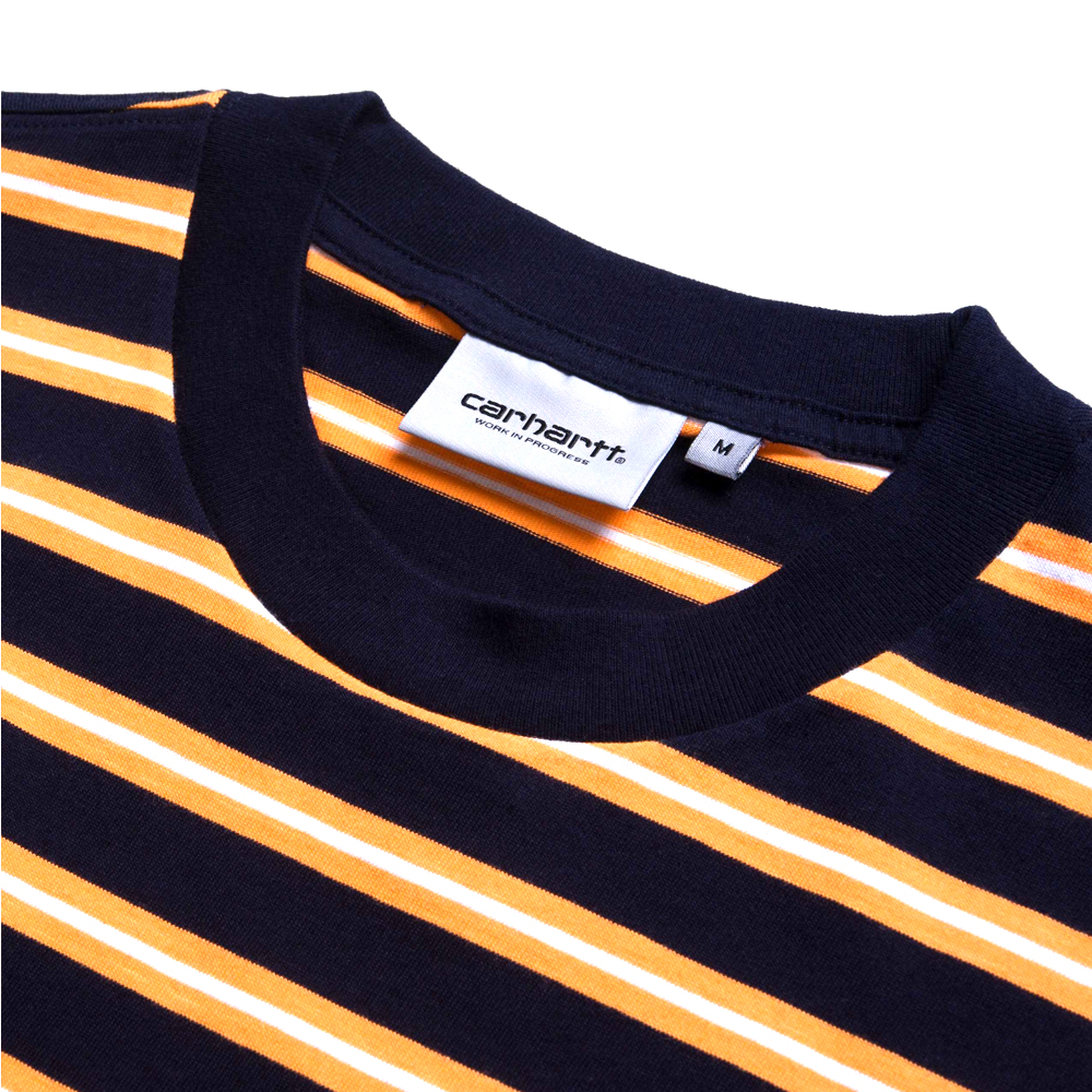 Carhartt WIP S/S Oakland T-Shirt The Carhartt WIP Short Sleeve T-Shirt S/S Oakland is a comfortable shirt, constructed from a cotton yarn dyed blend. I027731_D6_ST regular fit yarn dyed logo embroidery